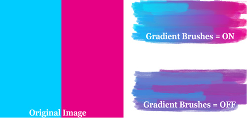 GMX-PhotoPainter - gradient brushes effect